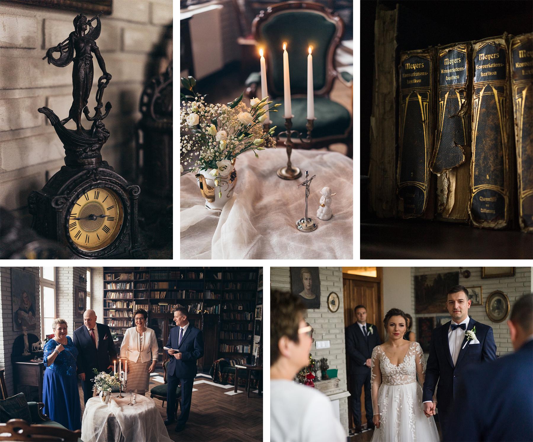 przygotowania błogosławnieństwo wnętrza pałacu malina detale w fotografii ślubnej rodzina rodzice błogosławią