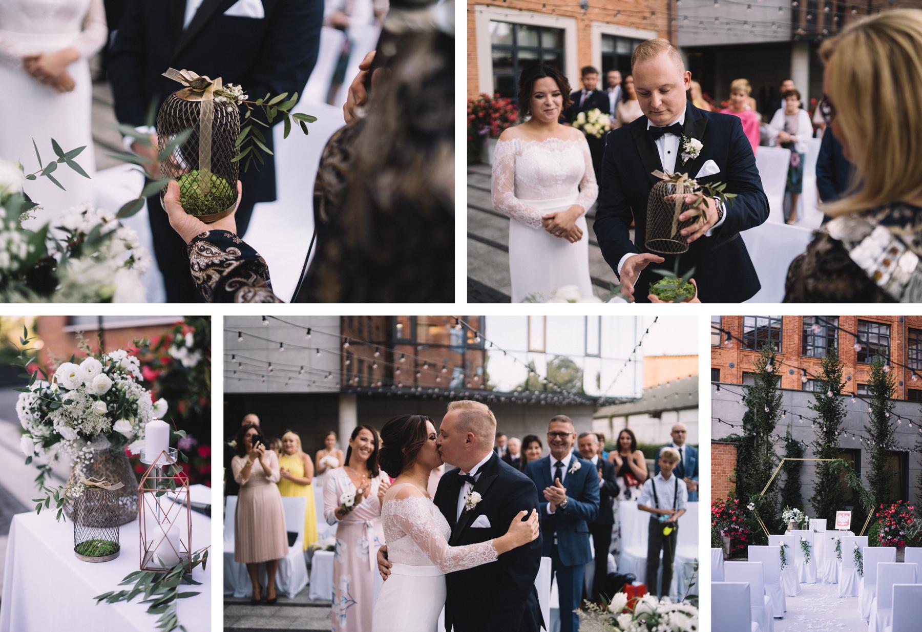 ślub przysięga ślubowanie para młoda pan młody panna młoda plenerowy fotograf ślubny fotograf na ślub łódź warszawa boho